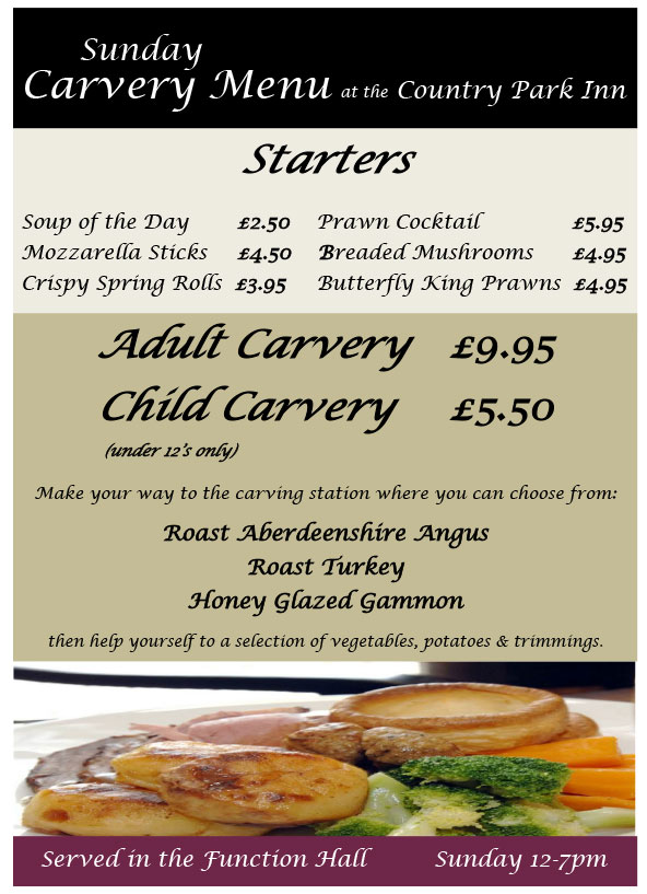 Carvery | Country Park Inn Mintlaw