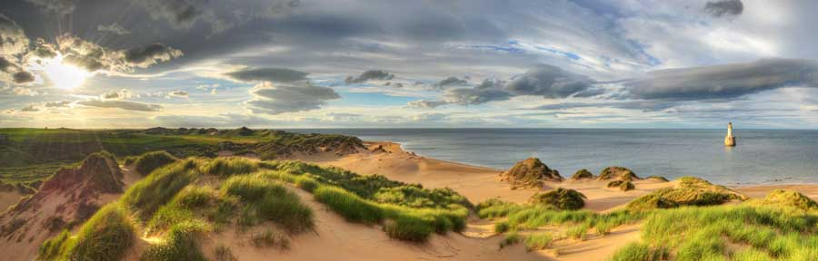 Rattray Head Lighthouse and Dunes Panorama